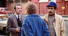 """""""See No Evil, Hear No Evil"""" movie still, 1989.  L to R: Kevin Spacey, Gene Wilder, Richard Pryor."""