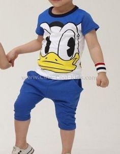 ชุดเสื้อเด็ก+กางเกง น้ำเงิน Donald S. 100 110 120 130 140