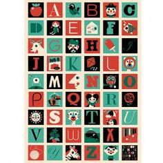 Ingela Arrhenius A - Z Poster By Omm Design