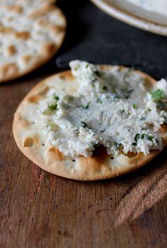Herb cashew cream cheese | In Vegetables We trust via kris Carr #vegan sounds like a vegan Boursin yum!
