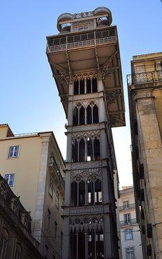Lizbona - winda Santa Justa / Elevador de Santa Justa, Lisbon