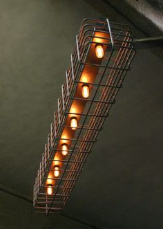 From the album: BASILE_custom lighting By BASILE Studio Custom rebar cage…