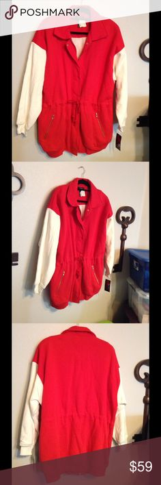 """Lavon Sport Jacket.  NWT🎄 Beautiful jacket,  it is so light and soft,  but warm.  It is 27"""" from arm pit to arm pit and is 32"""" long from shoulder to hem.  XL. It fits me well and I normally wear 1 or 2 X Levon Sport Jackets & Coats"""