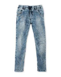 (Boys 8-20) Acid Wash Tapered Jeans