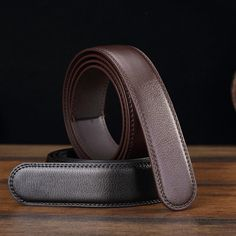 Men Second Floor Cowhide Black Brown Business Belt Body Without Buckle 4 Sizes For Choice at Banggood