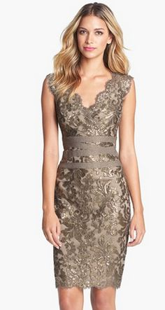So flattering! Lace party dress for holiday.