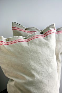 Linen pillow covers with fabric I have.