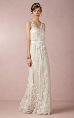White Ivory Applique Lace Sleeveless V Neck Wedding Dress Size 4 6 8 10 12 14 16 | eBay