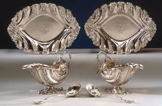 Sauceboat, Stand and Ladle. English (London). Nicholas Sprimont (born in Liege, France, active in London), 1746–47. Silver