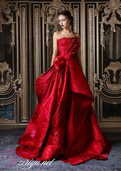 Red wedding dress.