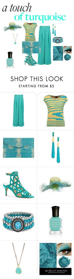 """A Touch Turquoise"" by chauert ❤ liked on Polyvore featuring Missoni, Kayu, Dean Davidson, Vince Camuto, Deborah Lippmann and Native Gem"