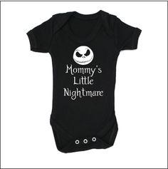 Mommy's (or custom title) Little Nightmare Jack Skellington Cute Baby Onesie