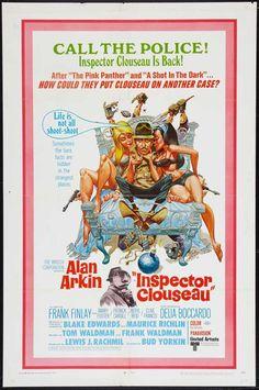 Inspector Clouseau (1968) Stars: Alan Arkin, Frank Finlay, Delia Boccardo, Barry Foster, Patrick Cargill, Clive Francis ~ Director: Bud Yorkin