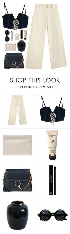"""""""Anything to forget everything"""" by nandim ❤ liked on Polyvore featuring Acne Studios, Lancôme, Chloé, Edward Bess, Chanel and Grown Alchemist"""
