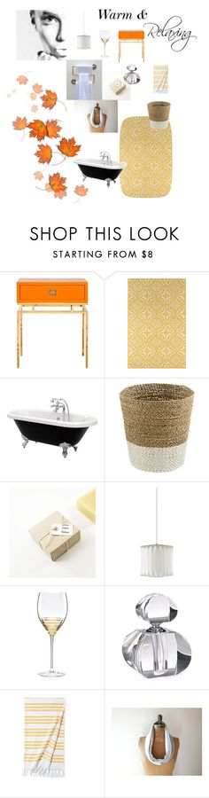 """Warm and Relaxing"" by jaribrow ❤ liked on Polyvore featuring interior, interiors, interior design, home, home decor, interior decorating, Worlds Away, Momeni, Herman Miller and Kate Spade"