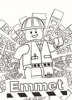 Emmet LEGO Movie Coloring Pages (600×842)