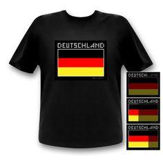 LED-Fashion - Camiseta de manga corta, diseño de la bandera alemana #camiseta #starwars #marvel #gift