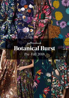 The Patternbank Team have been analysing the latest Pre-Fall 2018 collections and have put together the strongest print trends alongside designs from the P