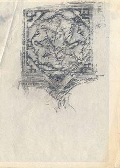 La mirada etrusca de John Berger, por Julio José de Faba en Huerta del Retiro | FronteraD (Dibujos de azulejos, calcados de los zócalos de la Alhambra: Juan Antonio Vizcaíno)