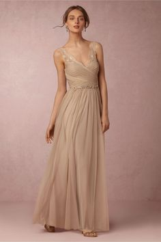 BHLDN Fleur Dress - $250 in a variety of sizes, I like the colors Sandstone (shown) and Mist Grey