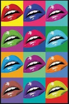 アンディ・ウォーホールの作品 唇のポップアート