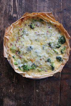 Quiche mit Lauch und Brokkoli - das ist mal wirklich lecker und vor allem der Filoteig ist eine tolle Idee!
