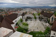 The photo was taken from the tower on the Castel in Ljubljana, Slovenia.