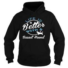 Basset Hound T-Shirts, Hoodies. Get It Now ==► https://www.sunfrog.com/Camping/Basset-Hound-124057223-Guys.html?id=41382