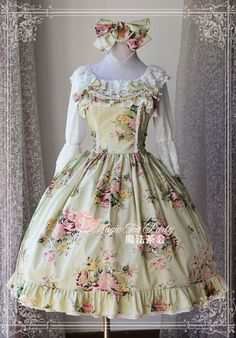 New Arrival: Magic Tea Party ✿♡~~A Comme Amour~~✿♡ Classic Lolita JSK: http://www.my-lolita-dress.com/magic-tea-party-whisper-prints-lolita-jumper-dress-ma-100 [IN STOCK (Fast Ship)]