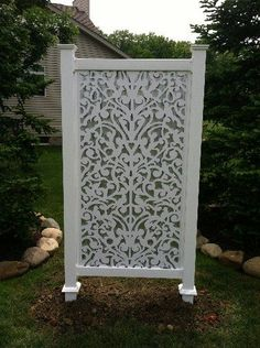 Yard Screen White Ginger Dove  Use On Porch For Privacy Headboard!