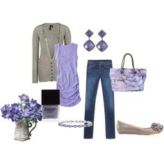 lavender and gray : )