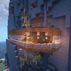 Chalet Minecraft, Minecraft Farmen, Minecraft Mountain House, Construction Minecraft, Easy Minecraft Houses, Minecraft House Tutorials, Minecraft House Designs, Minecraft Survival, Minecraft Decorations