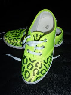 saw this on pinterest ...neon shoes