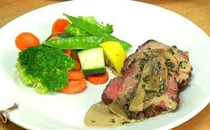 Grilled Whole Herb Rubbed Beef Tenderloin with Portabella Cream Sauce/Longhorn Steakhouse