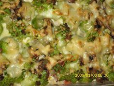 Auflauf: Romanesco-Rosenkohl- Kartoffel-Champignonauflauf - Rezept