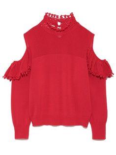 肩空きニットプルオーバー(ニット)|Lily Brown(リリーブラウン)|ファッション通販|ウサギオンライン公式通販サイト