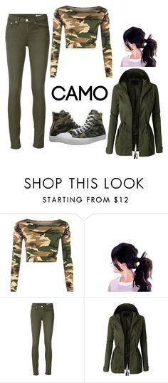 """"" by maria-reyna-1 ❤ liked on Polyvore featuring WearAll, rag & bone/JEAN, LE3NO, Converse and camostyle"