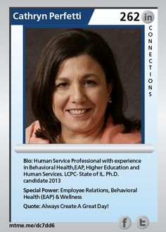 Human Service Professional with experience in Behavioral Health,EAP, Higher Education and Human Services. LCPC- State of IL.  Ph.D. candidate 2013