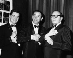 The Joey Bishop Show: (l-r) Regis Philbin, Joey Bishop and Jack Benney in Joey Bishop, Peter Lawford, Jack Benny, Late Night Talks, Sammy Davis Jr, Interview, Family Tv, Thanks For The Memories, Comedy Series
