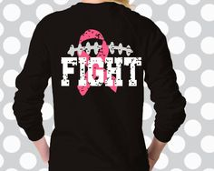 Shirts we need Breast Cancer Bows, Breast Cancer Crafts, Breast Cancer Shirts, Cancer Awareness Shirts, Breast Cancer Awareness, Cheer Coach Shirts, Football Mom Shirts, Sports Shirts, Fox Football