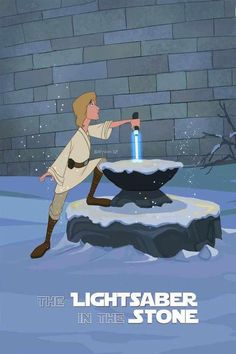 The light saber in the stone