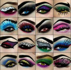 eye shadow art designs