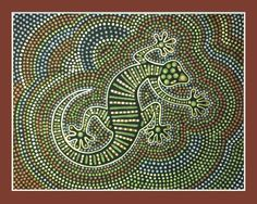 """Papunya Dot Painting Representing Australia in our """"World of Art"""" Workshop. It's just tempera paint applied with the flat end of a skewer, chopstick, dowel, what ever. I estimate there are between and 2000 dots on this. No wonder my wrist is sore. Arte Tribal, Tribal Art, Dot Painting Aboriginal, Mandala Art, Mandala Painting, Encaustic Painting, Kunst Der Aborigines, Ethno Design, Cult"""
