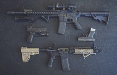 Ruger SR556, Springfield XD40, Glock 43, Daniel Defense MK18