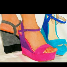 Ooooh I love these colorful wedge heels...it must be Spring time!!