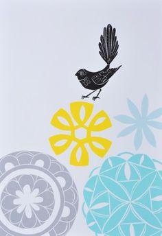Annie Smits-Sandano Annie Smith, Jr Art, Kiwiana, Multiple Images, Bird Prints, Star Print, Printmaking, Shapes, Block Prints