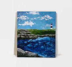 Seascape Original Acrylic Painting 18X24 by NatkOriginalArt