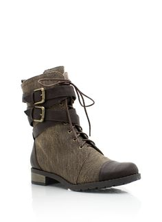 strappy lace-up side zip boot $30.80; after all, fall's a comin'