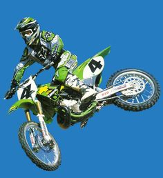 Ricky Carmichael I love the green! Kawasaki Kx 250, Kawasaki Dirt Bikes, Motocross Bikes, Vintage Motocross, Hummer, 2 Stroke Dirt Bike, Ricky Carmichael, Bmx Pro, Mx Racing
