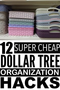 Dollar Store Organizing Ideas Looking for dollar tree organization ideas to get your home organized? Organisation Hacks, Diy Organization, Organizing Ideas, Organization Ideas For The Home, Household Organization, Organising, Kids Bathroom Organization, Dollar Tree Organization, Bathroom Storage